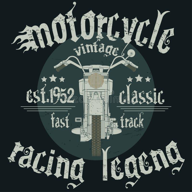Tävlings- typografi för motorcykel royaltyfri illustrationer