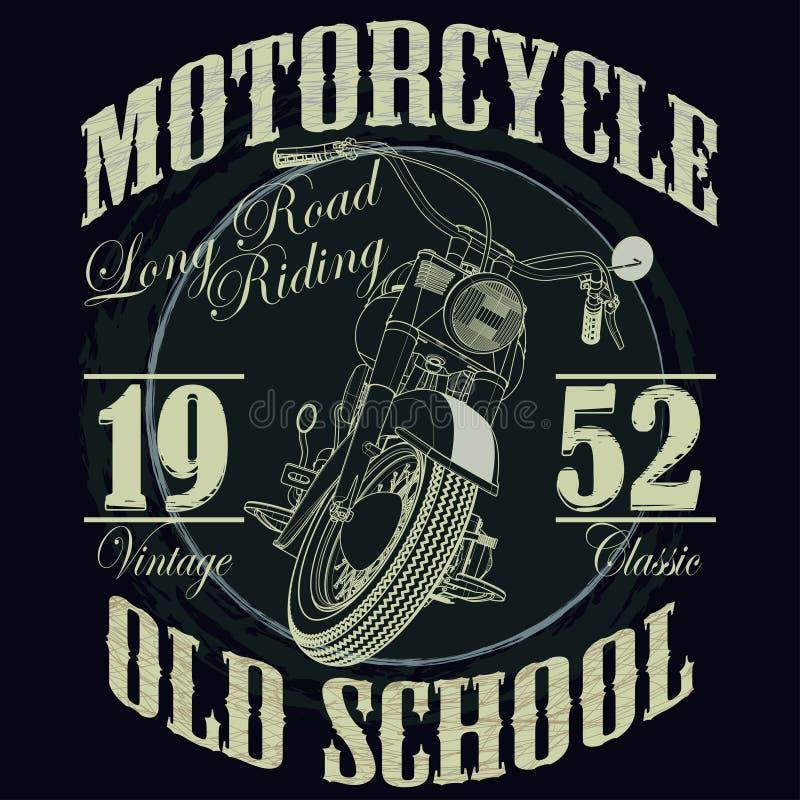 Tävlings- typografidiagram för motorcykel tävlings- T vektor illustrationer