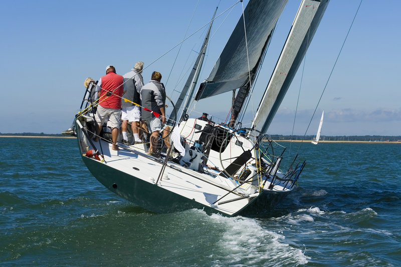 tävlings- yacht royaltyfri fotografi