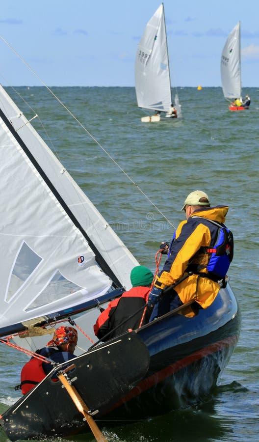 tävlings- yacht royaltyfria foton