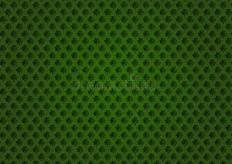 tła koniczyny zieleń St Patrick dnia wektoru zieleni tło ilustracja wektor