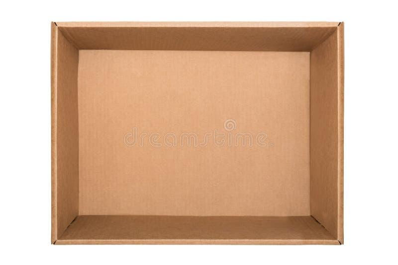 tła pudełkowatego kartonu pusty odosobniony odgórnego widok biel Mieszkanie nieatutowy obraz royalty free