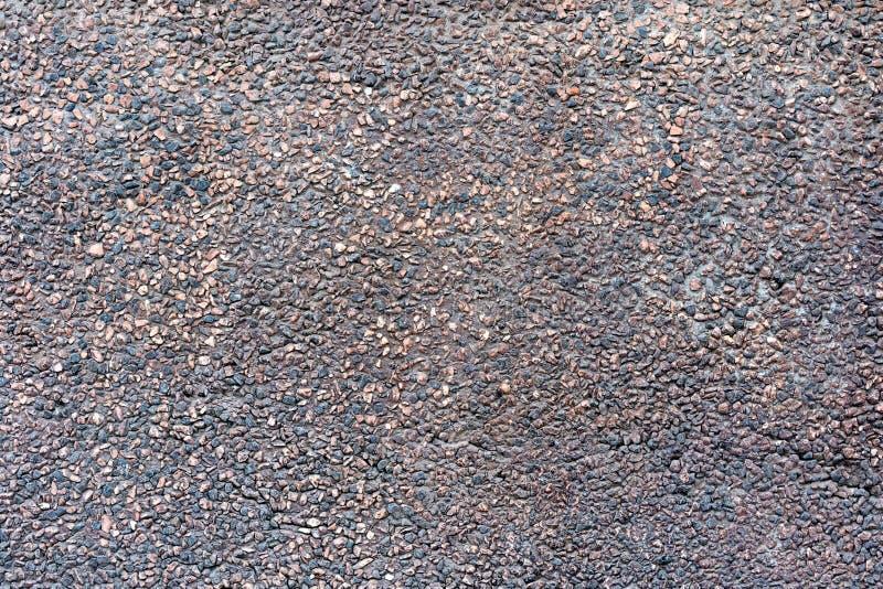 Tło ścienna tekstura brąz granitowa kruszka Czerwona granitowa kruszka Colorfull ściana dekorująca zdjęcie stock