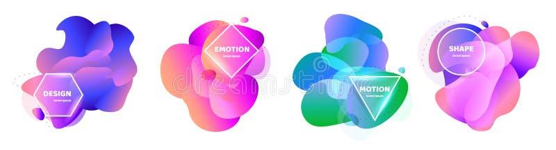 tło abstrakcjonistyczni kształty Wektorowego sztandaru niezwykły nowożytny projekt Gradientu wzoru styl przepływ również zwrócić  royalty ilustracja