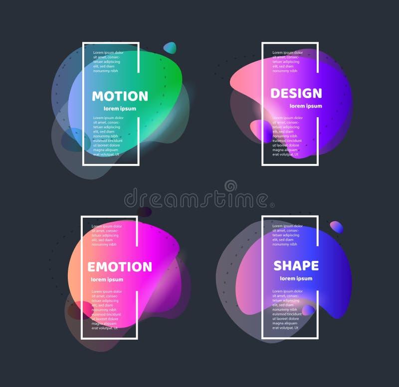 tło abstrakcjonistyczni kształty Wektorowego sztandaru niezwykły nowożytny projekt Gradientu wzoru styl przepływ Wektorowa ilustr ilustracji