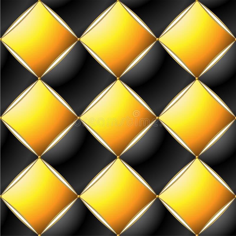 Tło Elegancki Waciany wzoru Vip czerń, kolor żółty i złoto, wykładamy ilustracji