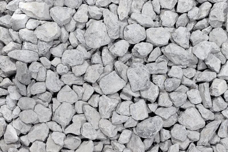 Tło od round bielu kamienia Biali otoczaki składający obrazy stock