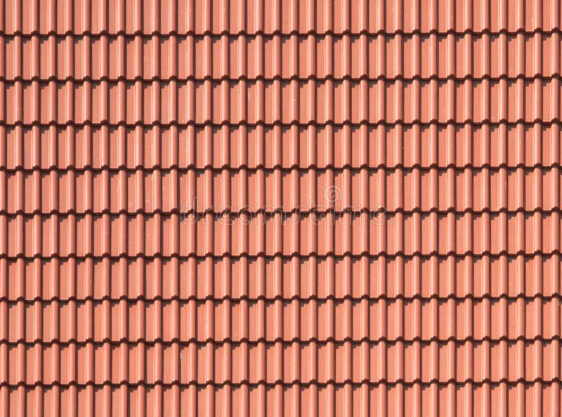 Tło płytek dach, brąz, earthen, gliniany kolor, fotografia stock