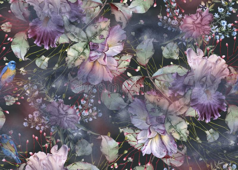 Tło róże bezszwowy wzoru ilustracja wektor