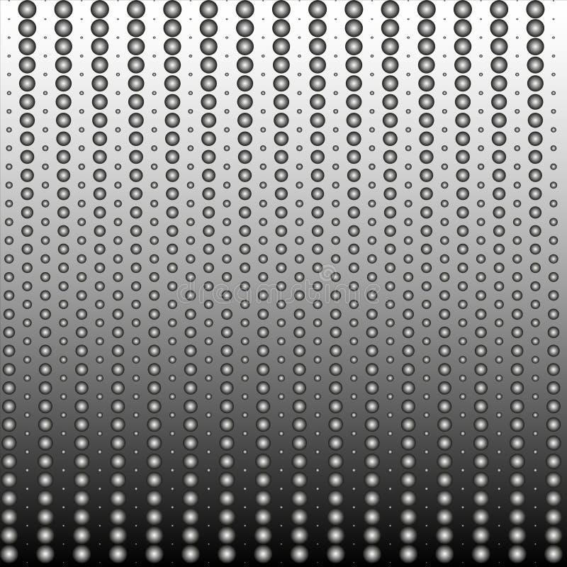Tło tekstura punkty z gradientem w czarny i biały Elegancka Wektorowa ilustracja dla sieć projekta ilustracji