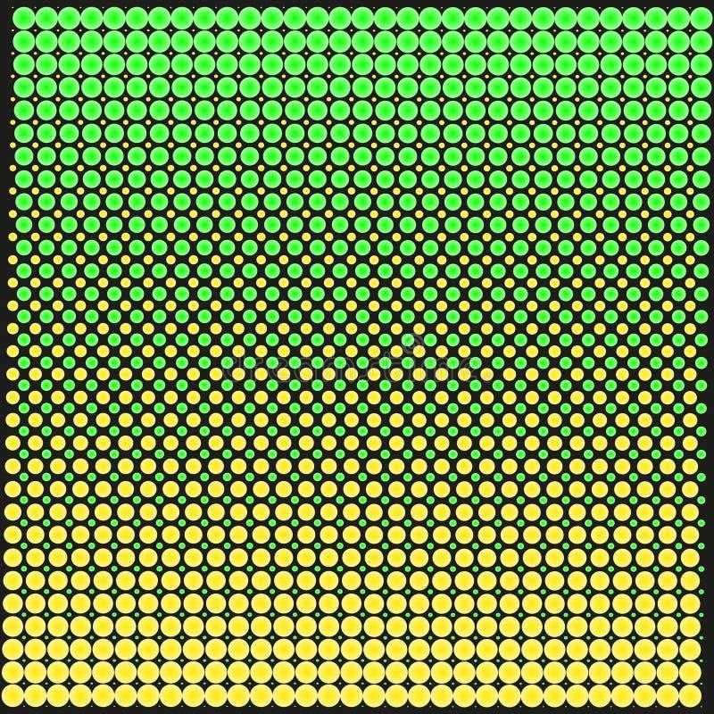 Tło tekstura punkty z gradientu kolorem żółtym na czerni i zielenią Elegancka Wektorowa ilustracja dla sieć projekta ilustracja wektor
