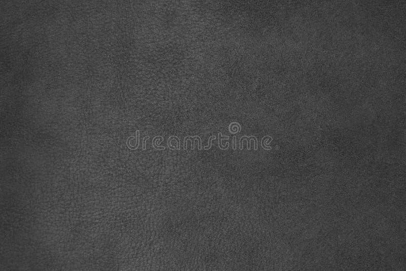Tło, tekstura, rzemienny czarny zamszowy obraz stock