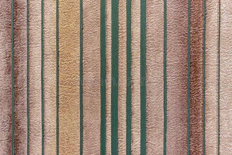 Tło z zielonymi pionowo paskami na beżu obrazy royalty free