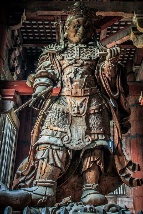 TÅ  Dai świątynna drewniana rzeźba, Kei rzeźba szkoła, Nara, Kansai, Japonia zdjęcie royalty free