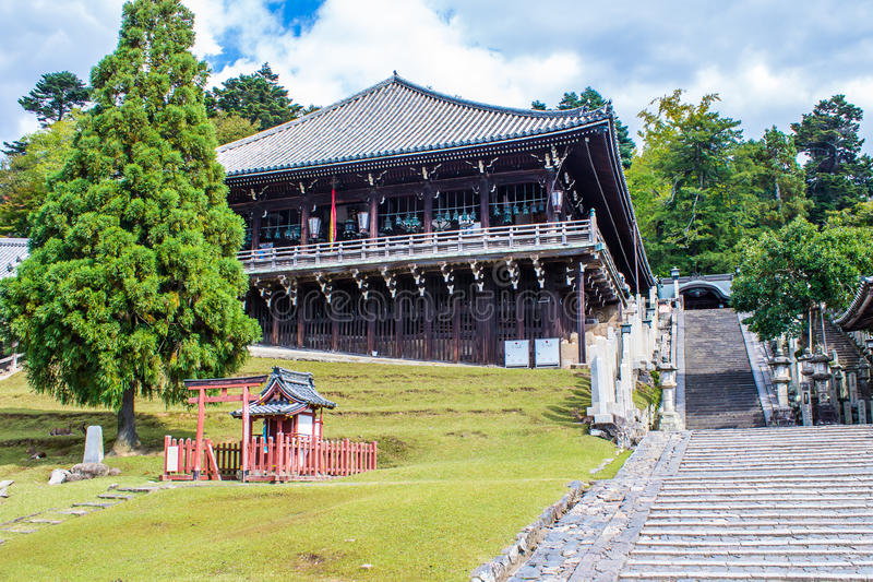 , am TÅ- Dai-ji, Nigatsu-tun Tempel in Nara, Japan stockfoto