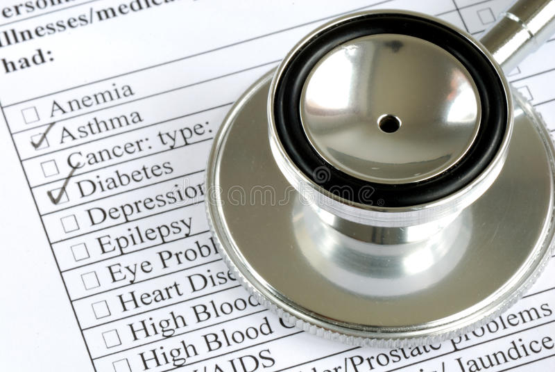 tålmodig registrerat s-stetoskop royaltyfria bilder