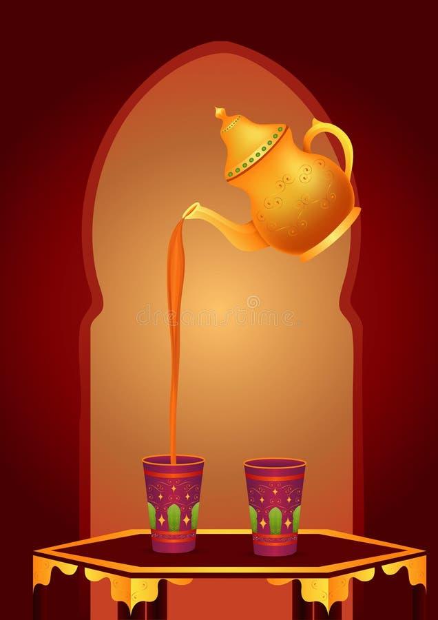 Tè arabo illustrazione di stock