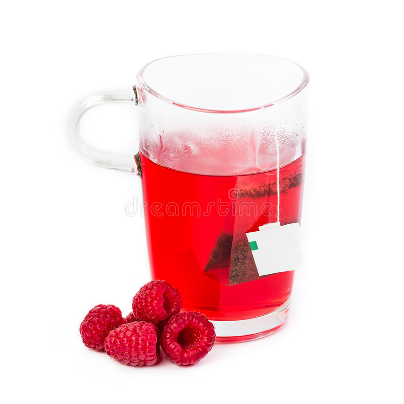 Tè caldo della frutta del lampone fotografia stock