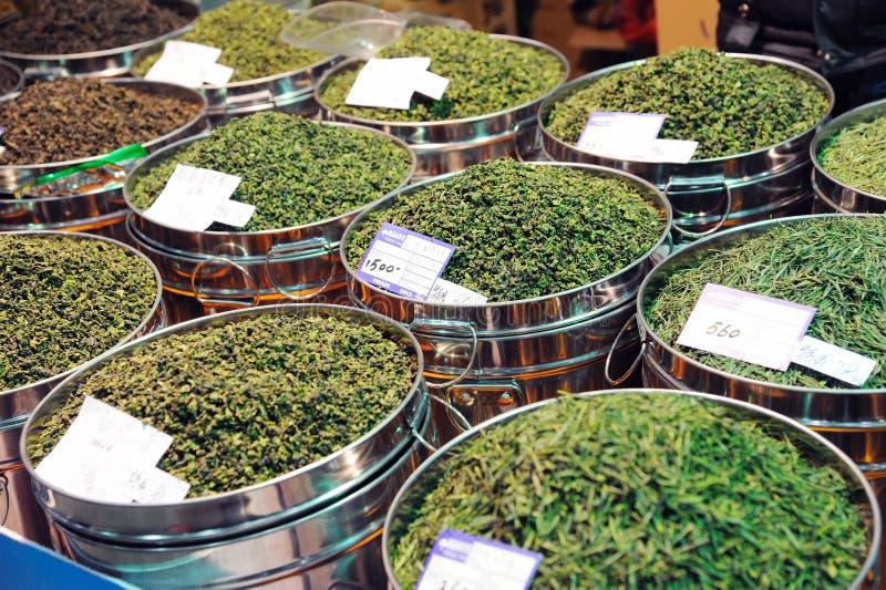 Tè cinese in di mercato immagine stock