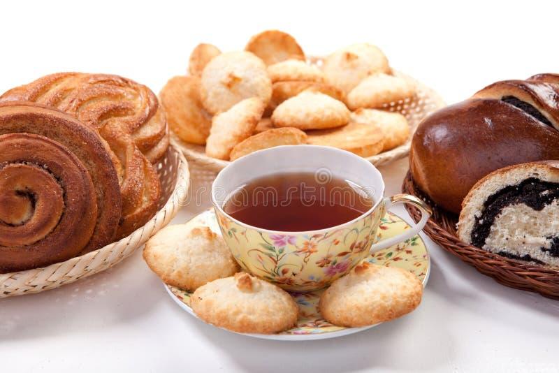 Tè con cottura immagine stock