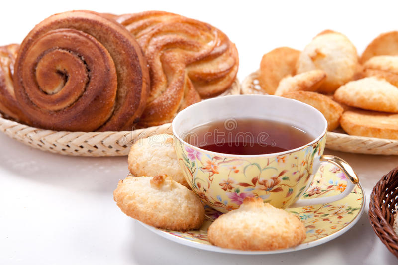 Tè con cottura fotografie stock libere da diritti