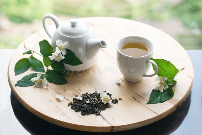 Tè con il gelsomino fotografia stock
