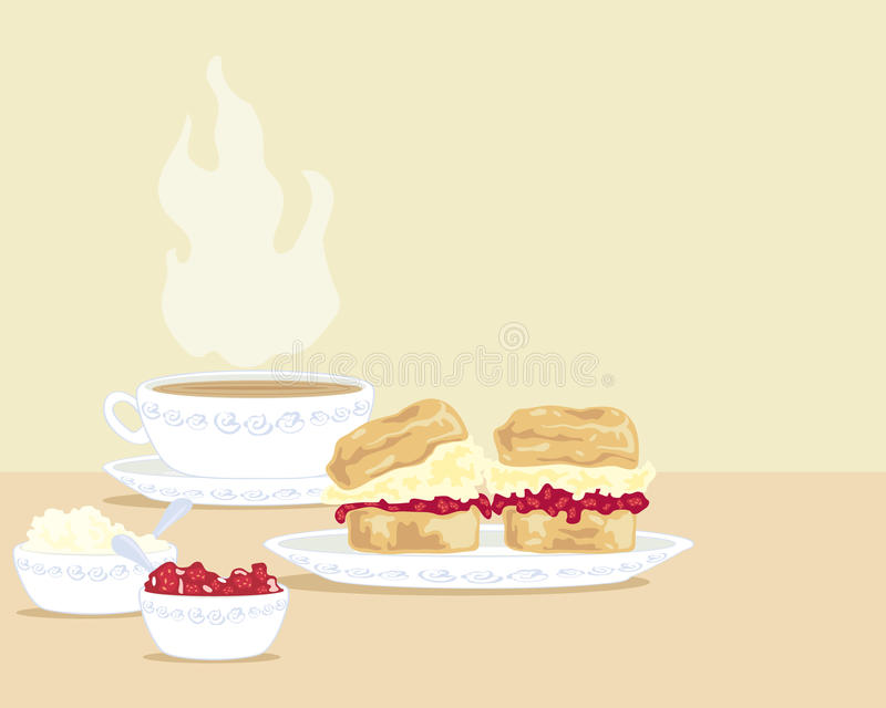 Tè crema illustrazione di stock