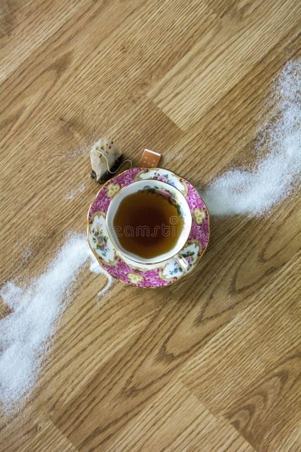 Tè d'annata & zucchero immagini stock