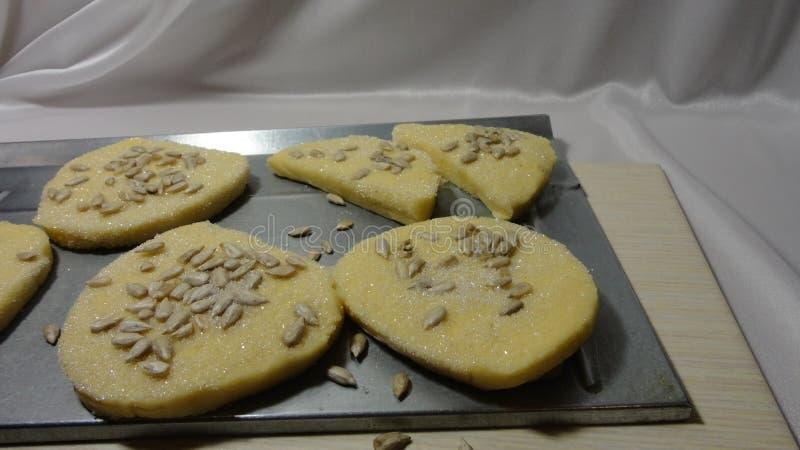 Tè dei biscotti che cuoce l'alimento sano della prima colazione di salute dei dolci freschi di dieta fotografia stock libera da diritti