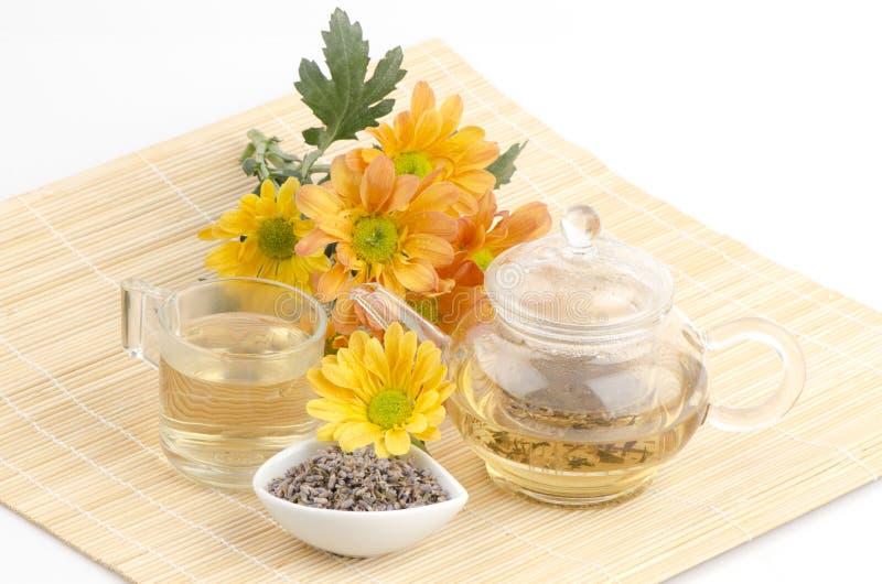 Tè del fiore della lavanda (angustifolia del Lavandula (Regno Unito) fotografia stock libera da diritti
