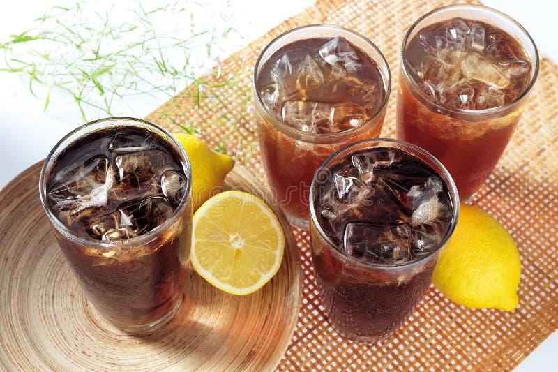 Tè del limone del ghiaccio immagine stock