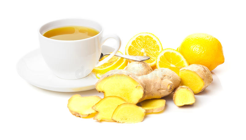 Tè del limone dello zenzero fotografia stock libera da diritti