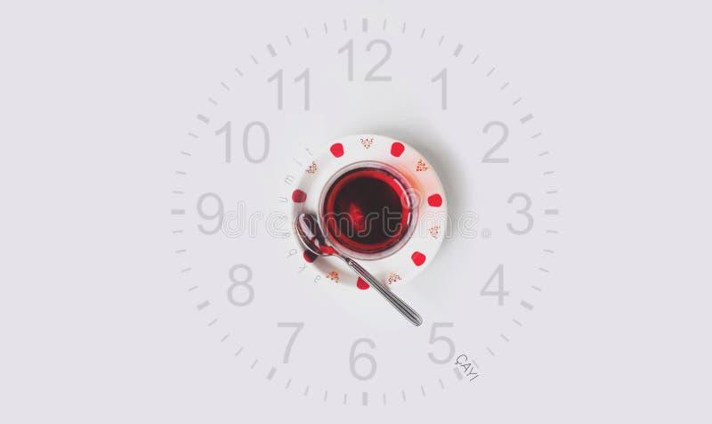 Tè dell'orologio di cinque o fotografia stock libera da diritti