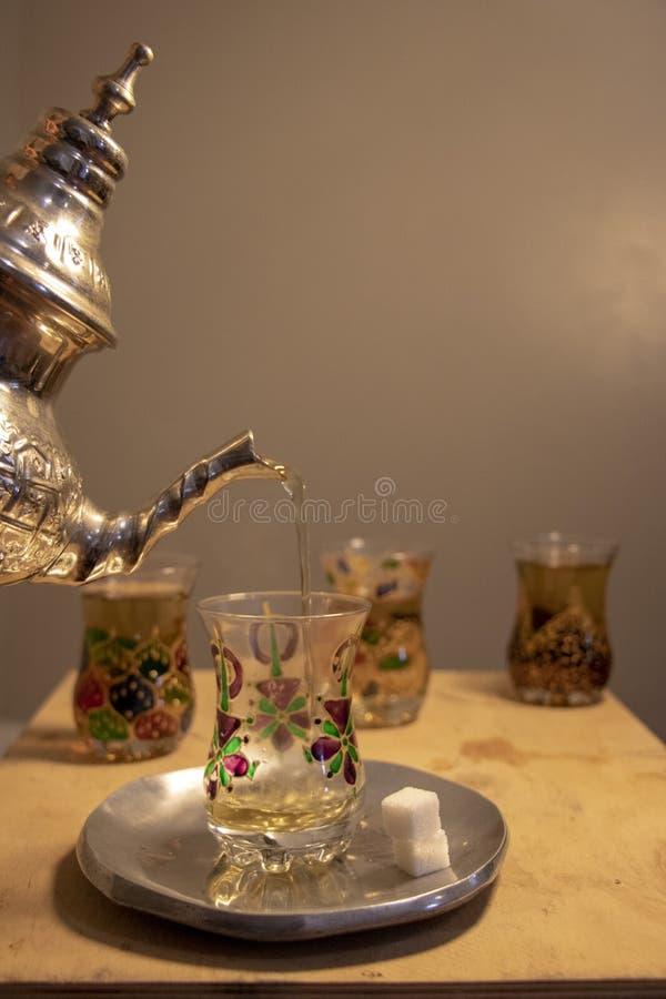Tè della menta nel Marocco fotografia stock libera da diritti