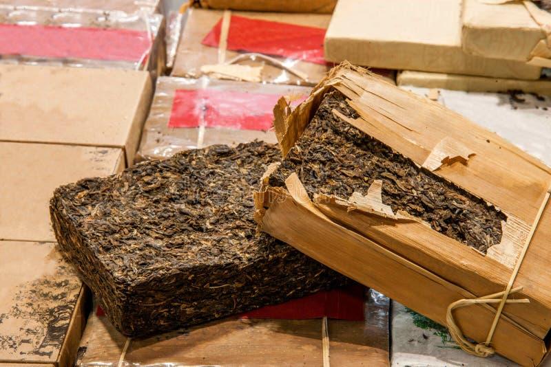 Tè di Chongqing Tea Expo e tè del mattone immagine stock libera da diritti