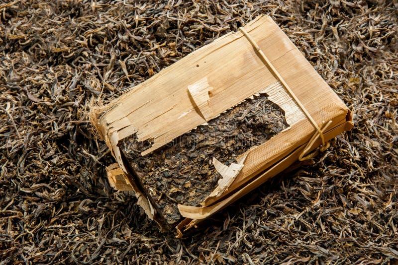 Tè di Chongqing Tea Expo e tè del mattone immagini stock libere da diritti
