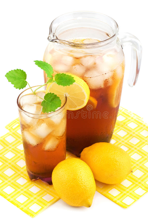 Tè di ghiaccio del limone immagini stock