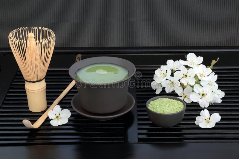 Tè di Matcha del giapponese fotografia stock