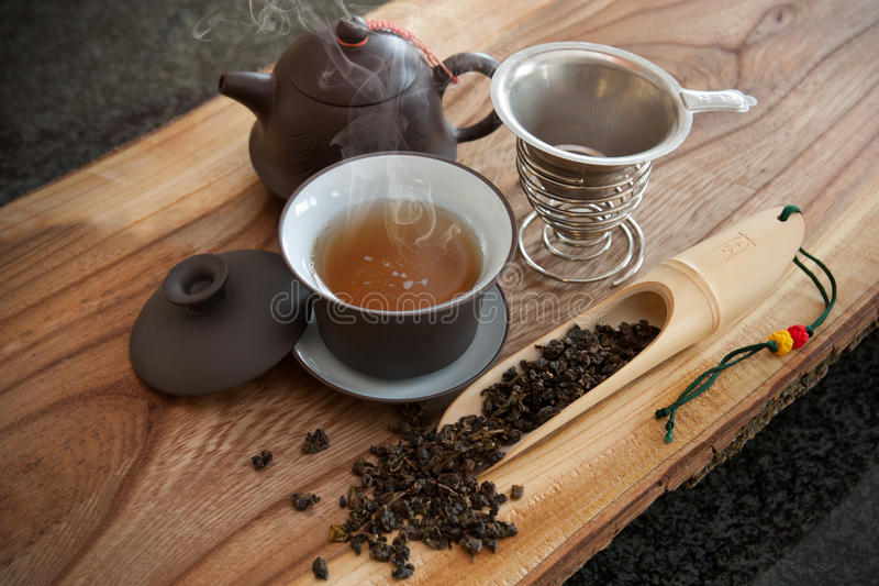Tè di Oolong fotografia stock