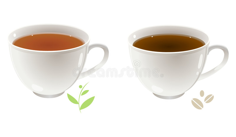 Tè e caffè illustrazione vettoriale