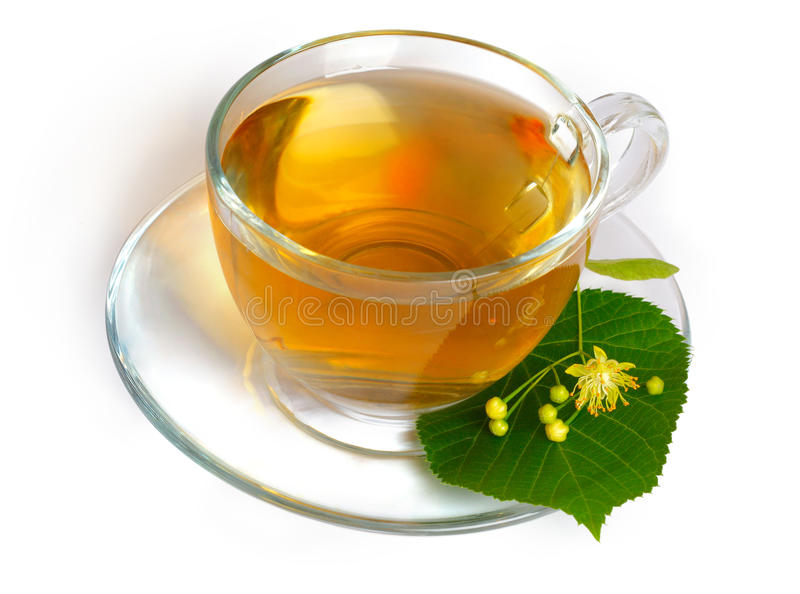 Tè e fiori del Linden fotografia stock libera da diritti