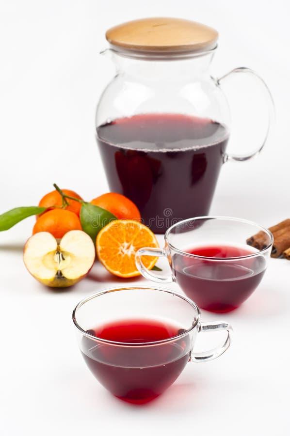 Tè e frutta immagine stock libera da diritti