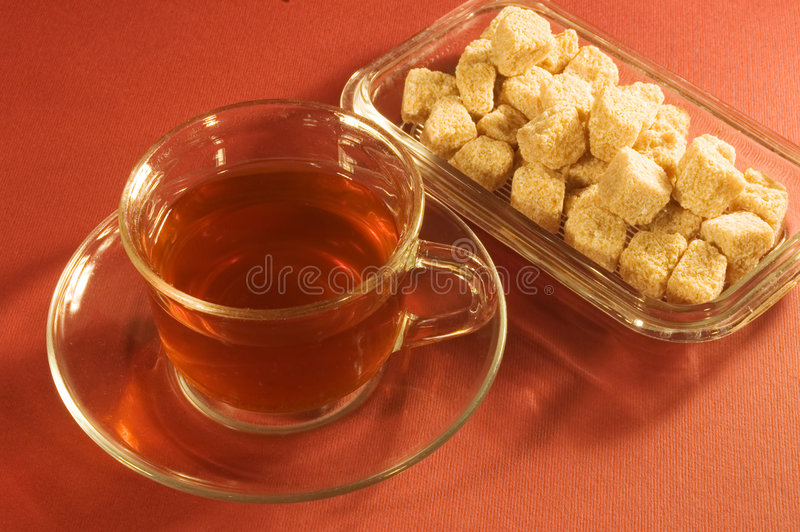 Tè e zucchero immagini stock