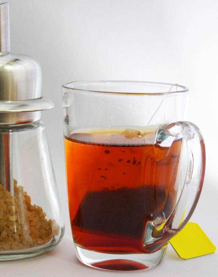 Tè e zucchero fotografia stock