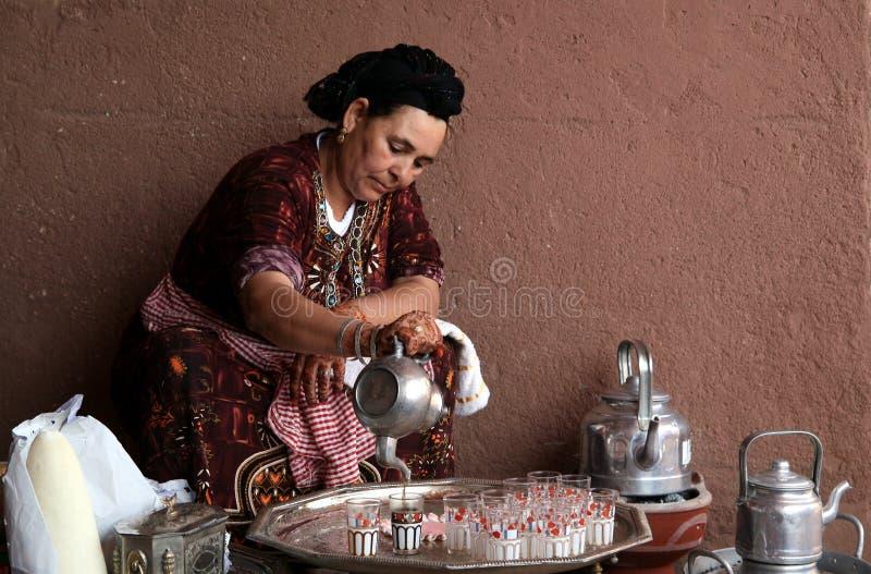 Tè marocchino della menta fotografia stock