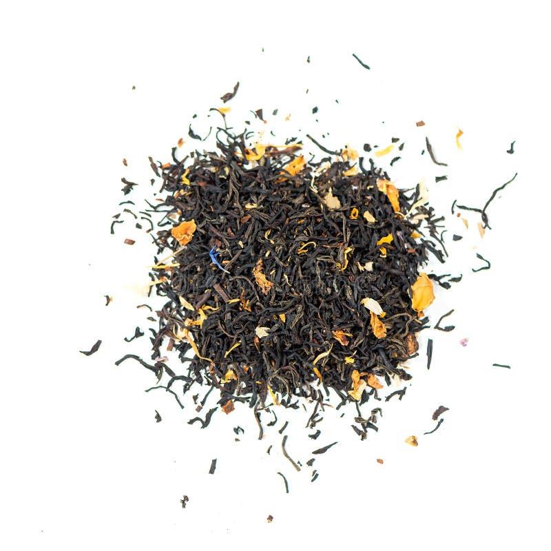 Tè nero con petali di mallow fotografie stock