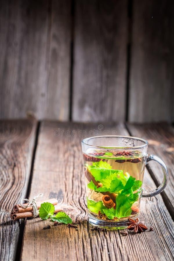 Tè verde caldo fotografia stock