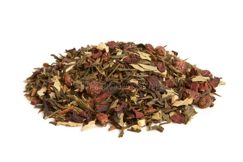 Tè verde con la frutta secca fotografia stock