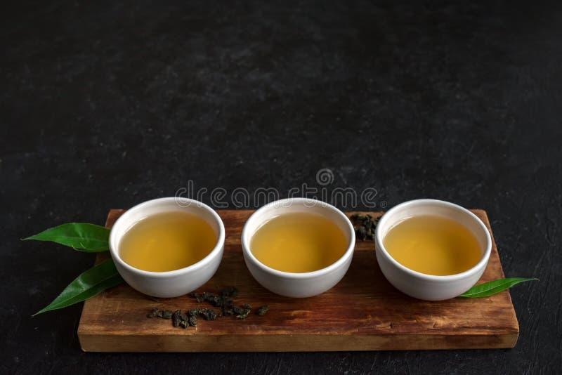 Tè verde del oolong fotografia stock