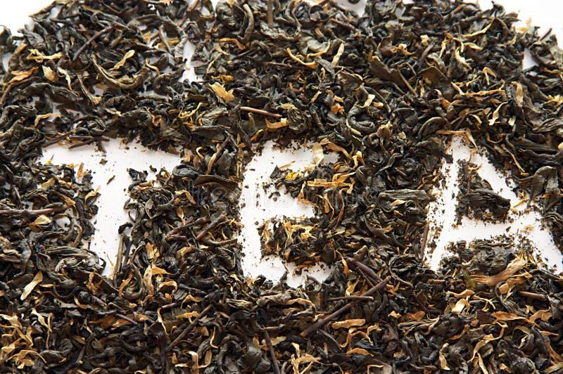 Tè verde della porcellana con i fiori immagine stock libera da diritti